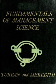 FUNDAMENTALS OF MANAGEMENT SCIENCE.